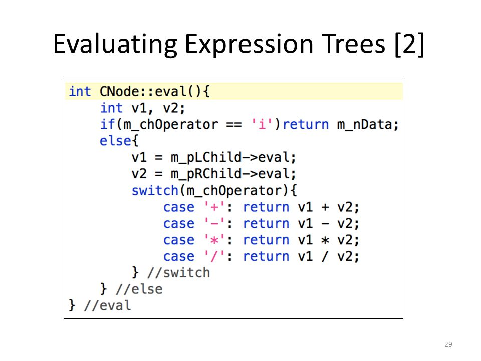 Evaluating Expression Trees [2]